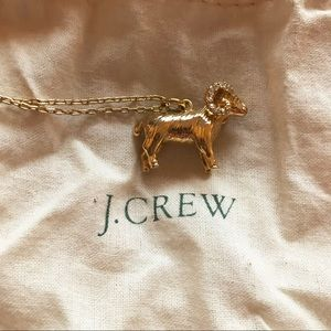 J.Crew Ram Long Gold Novelty Necklace